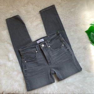 LOFT gray skinny crop slim pocket jeans size 24 00